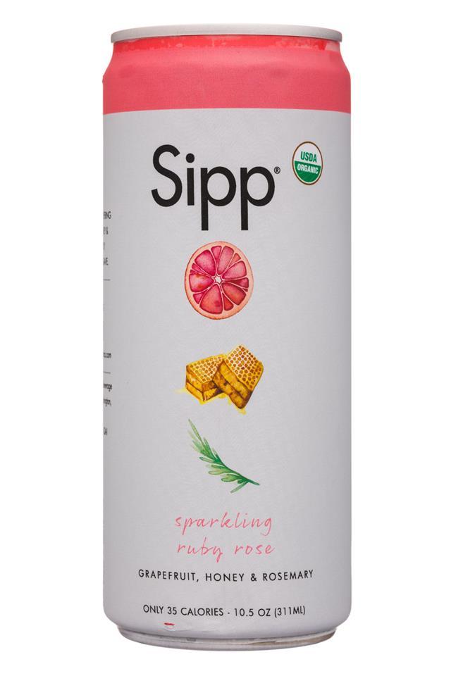 Sipp: Sipp-11oz-Sparkling-RubyRose-Front