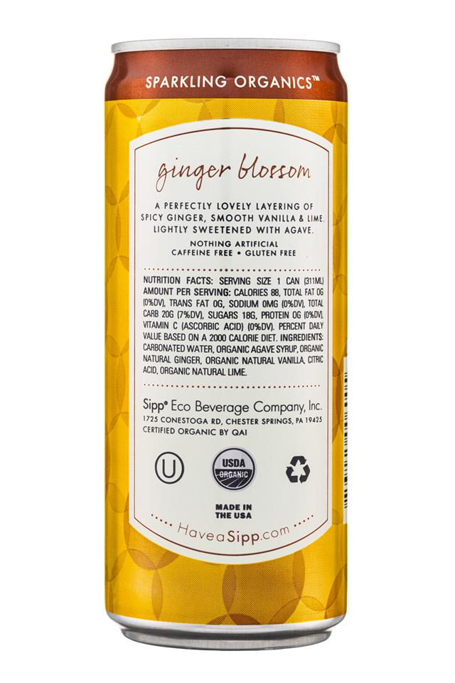 Sipp: Sipp-10oz-Sparkling-GingerBlossum-Facts