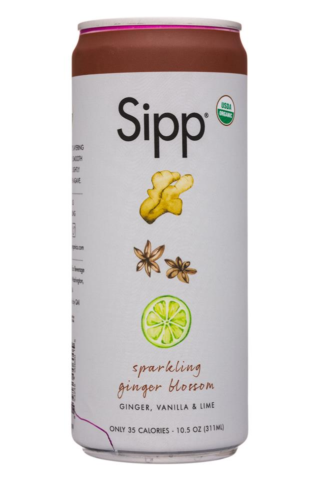 Sipp: Sipp-11oz-Sparkling-GingerBlossom-Front