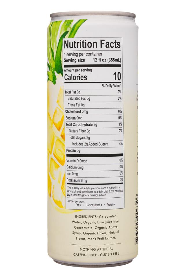 Sipp: Sipp-12oz-Infusions-SparklingWater-PineappleVanillaSage-Facts