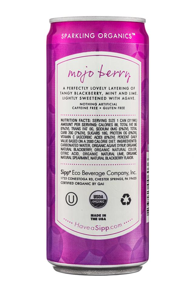 Sipp: Sipp-10oz-Sparkling-MojoBerry-Facts