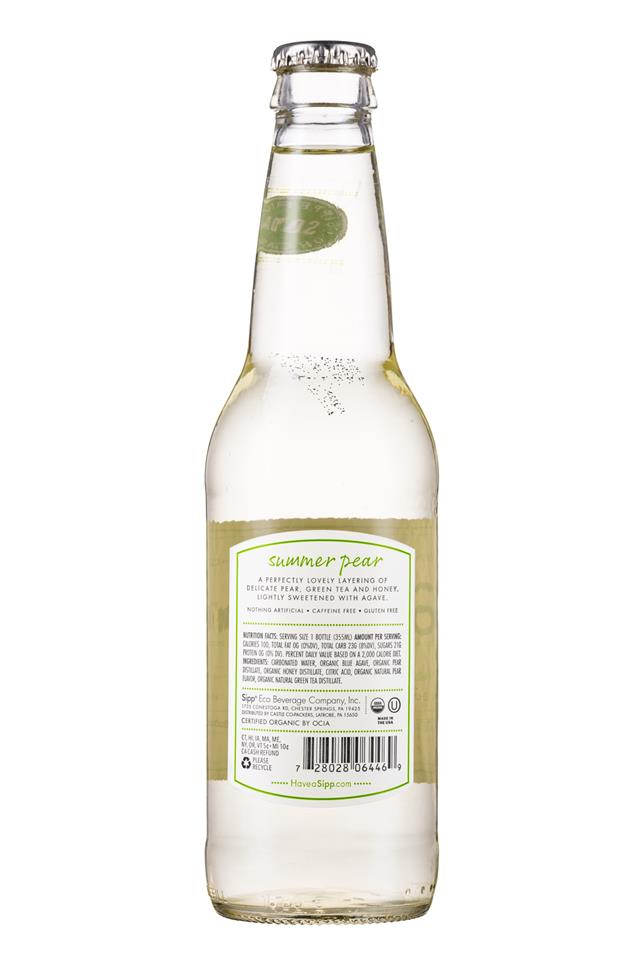 Sipp: Sipp-12oz-Bottle-SummerPear-Facts