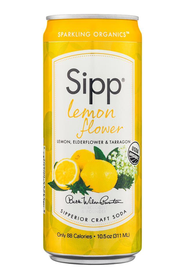 Sipp: Sipp-10oz-Sparkling-LemonFlower-Front