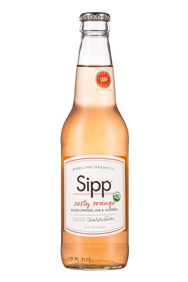 Sipp: Sipp-12oz-Bottle-ZestyOrange-Front