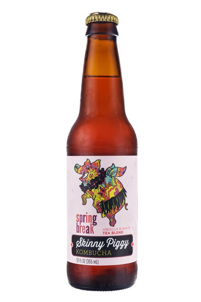 Skinny Piggy Kombucha : SkinnyPiggy-Kombucha-SpringBreak-Front