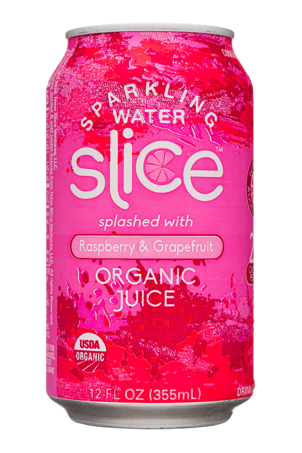 Raspberry & Grapefruit Sparkling Water (can)