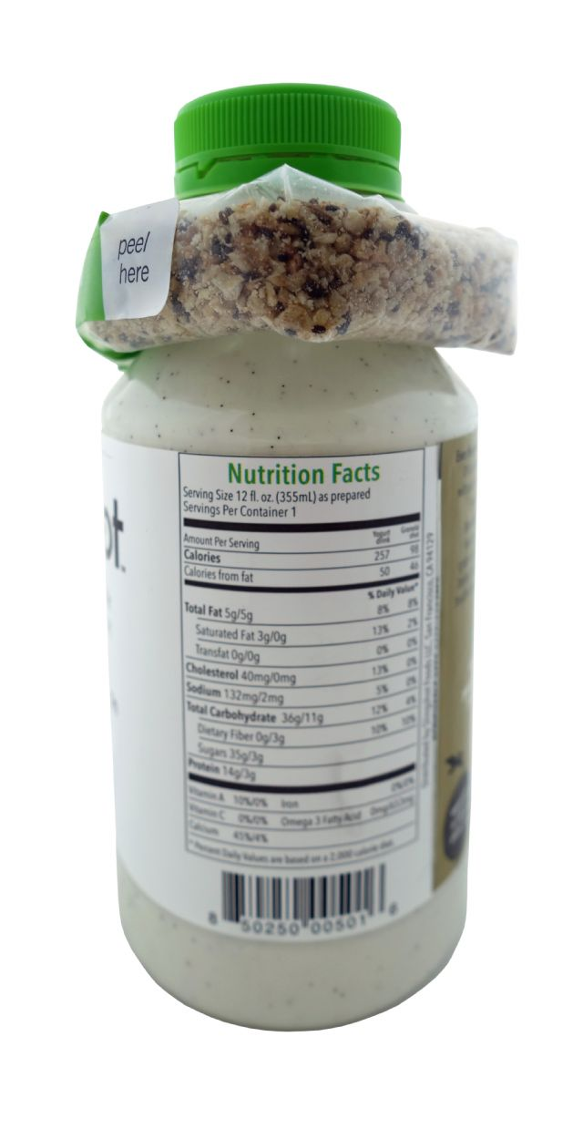 Slingshot Yogurt Protein Drink: Slingshot Vanilla Facts