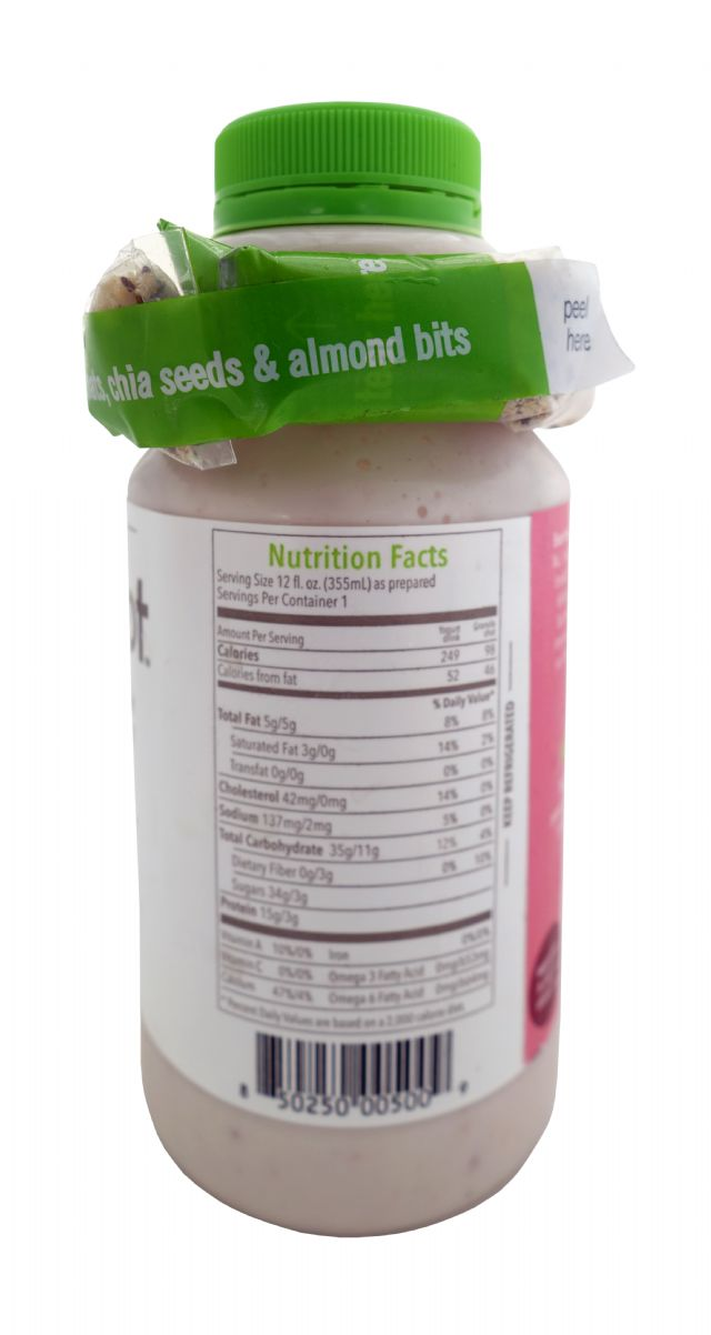 Slingshot Yogurt Protein Drink: Slingshot Strawberry Facts