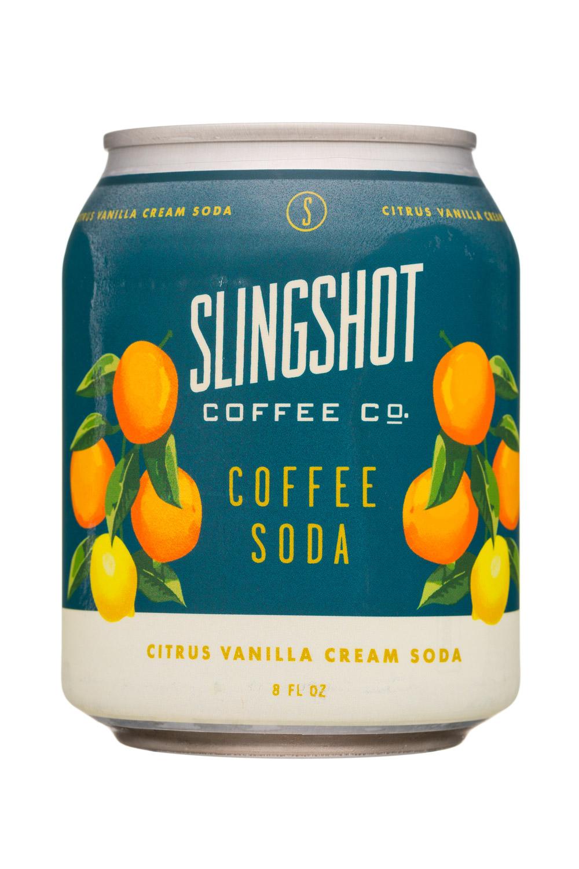 Slingshot Coffee Co.: SlingshotCoffeeCo-8oz-CoffeeSoda-CitrusVanillaCreamSoda-Front
