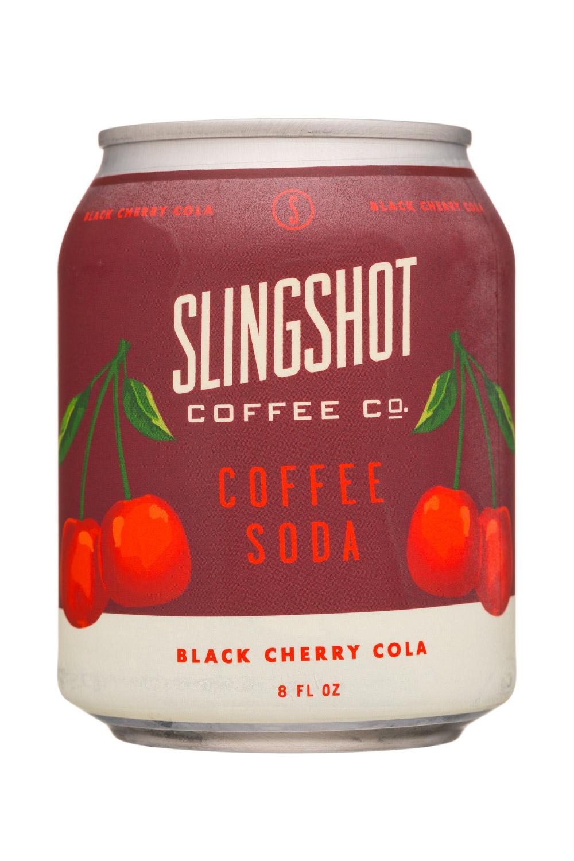 Slingshot Coffee Co.: SlingshotCoffeeCo-8oz-CoffeeSoda-BlackCherryCola-Front