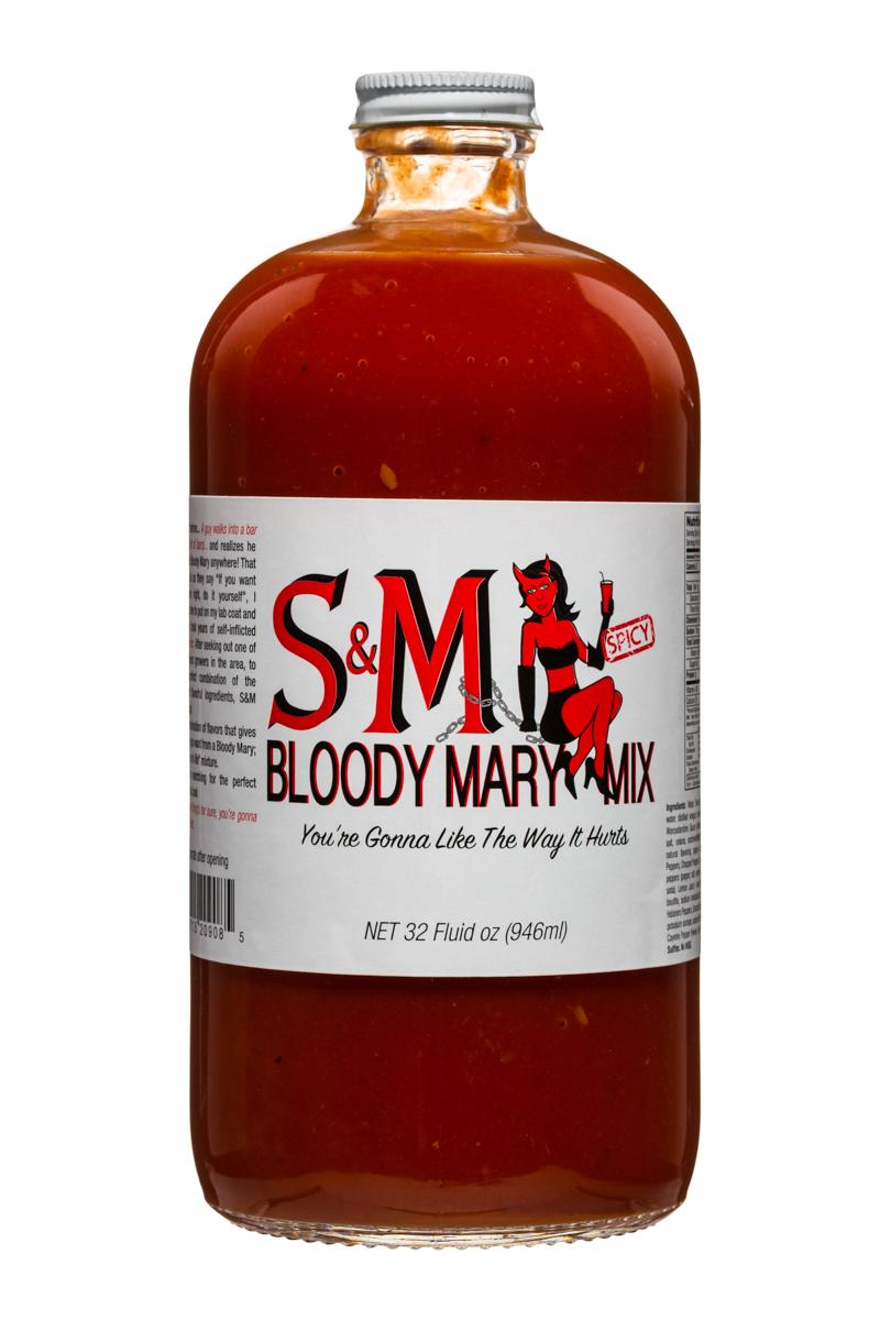 S&M Bloody Mary Mix: SM-32oz-BloodyMaryMix-Front
