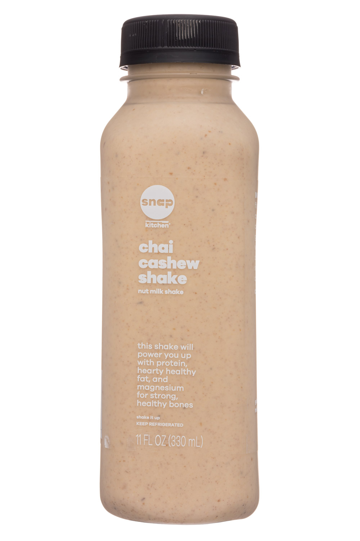Snap Kitchen: SnapKitchen-11oz-ProteinShake-ChaiCashewShake-Front