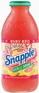 Snapple beverage- ruby red