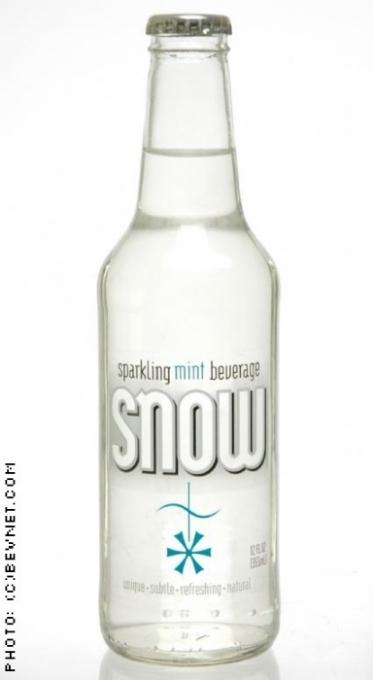 Snow Sparkling Mint Beverage: snow-bottle.jpg