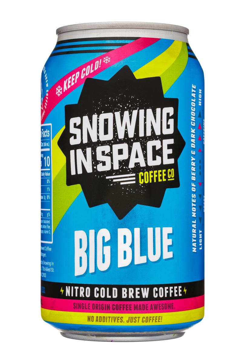 Snowing in Space Coffee Co.: SnowingInSpaceCoffee-12oz-NitroColdBrew-BigBlue-Front