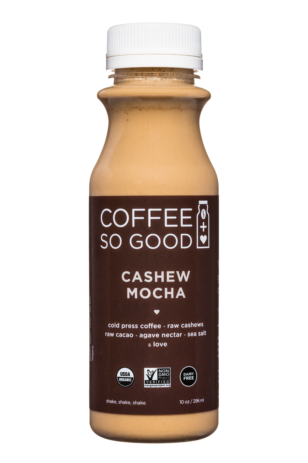Coffee So Good: CoffeeSoGood-10oz-ColdPress-CashewMocha-Front