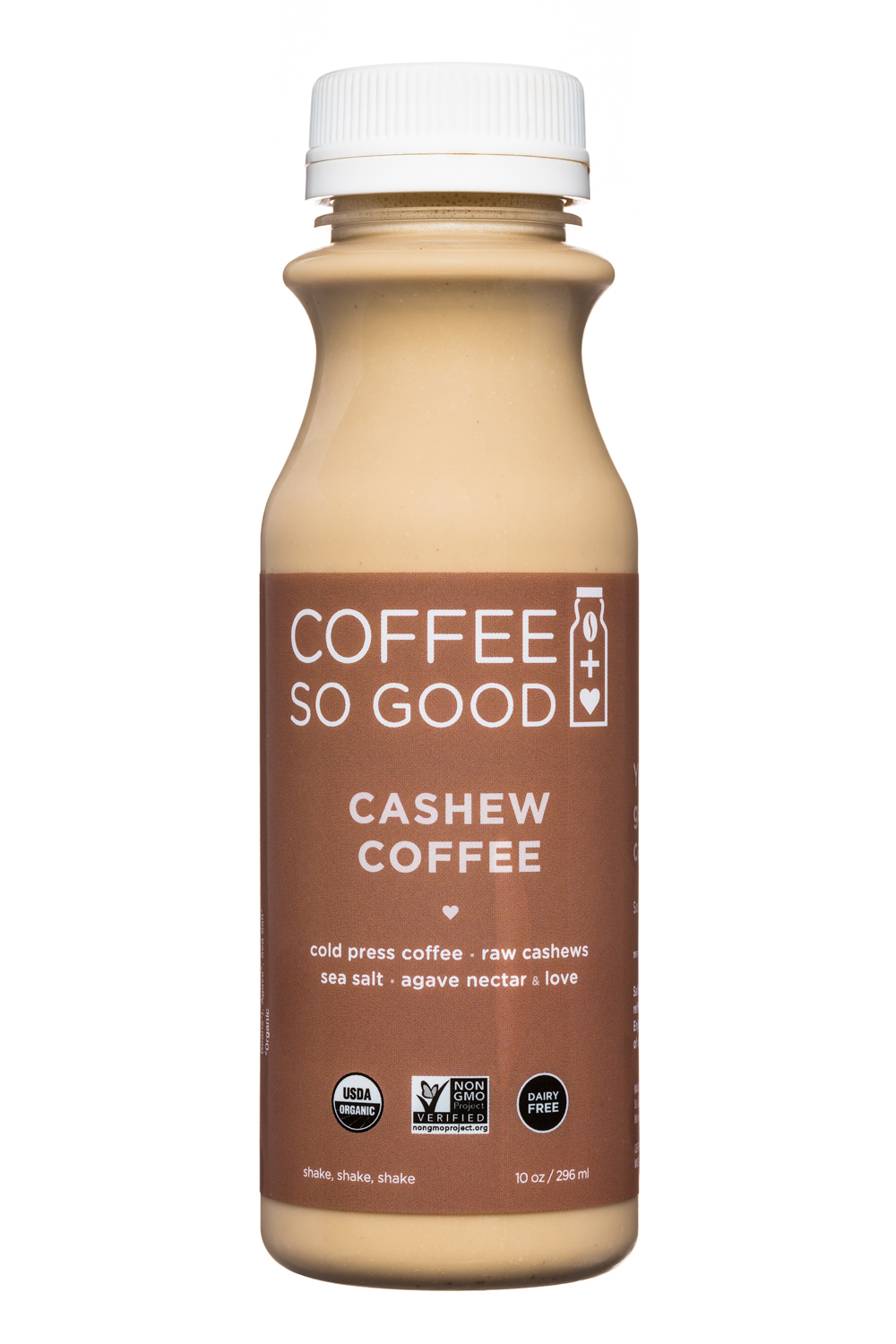 Coffee So Good: CoffeeSoGood-10oz-ColdPress-CashewCoffee-Front