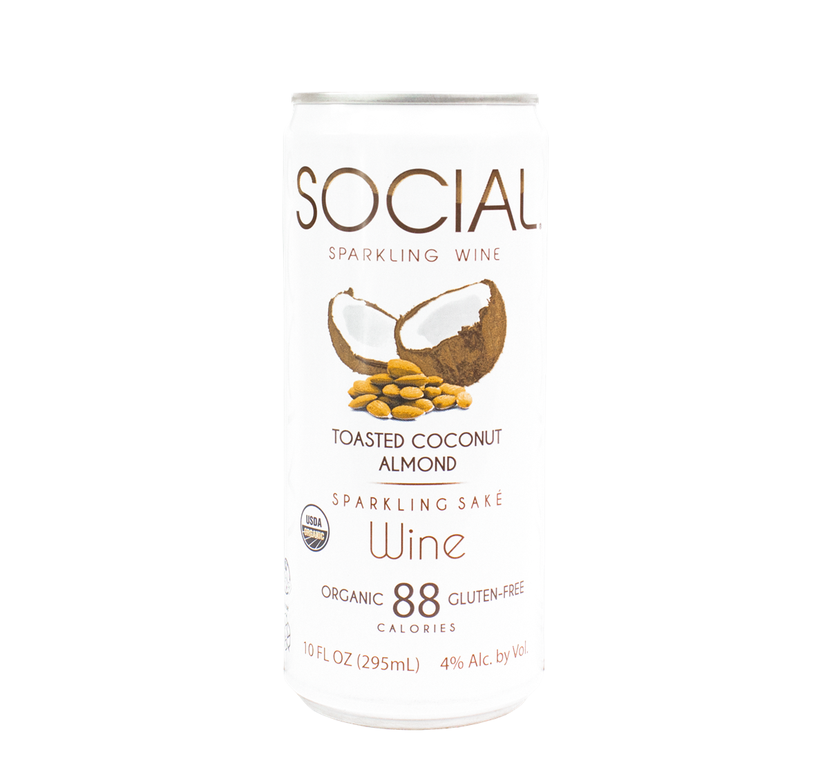 SOCIAL Toasted Coconut Almond Sparkling Wine