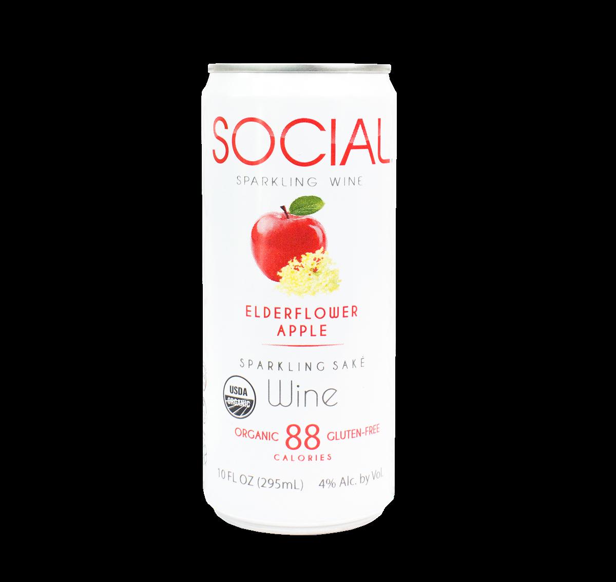 SOCIAL Elderflower Apple Sparkling Wine