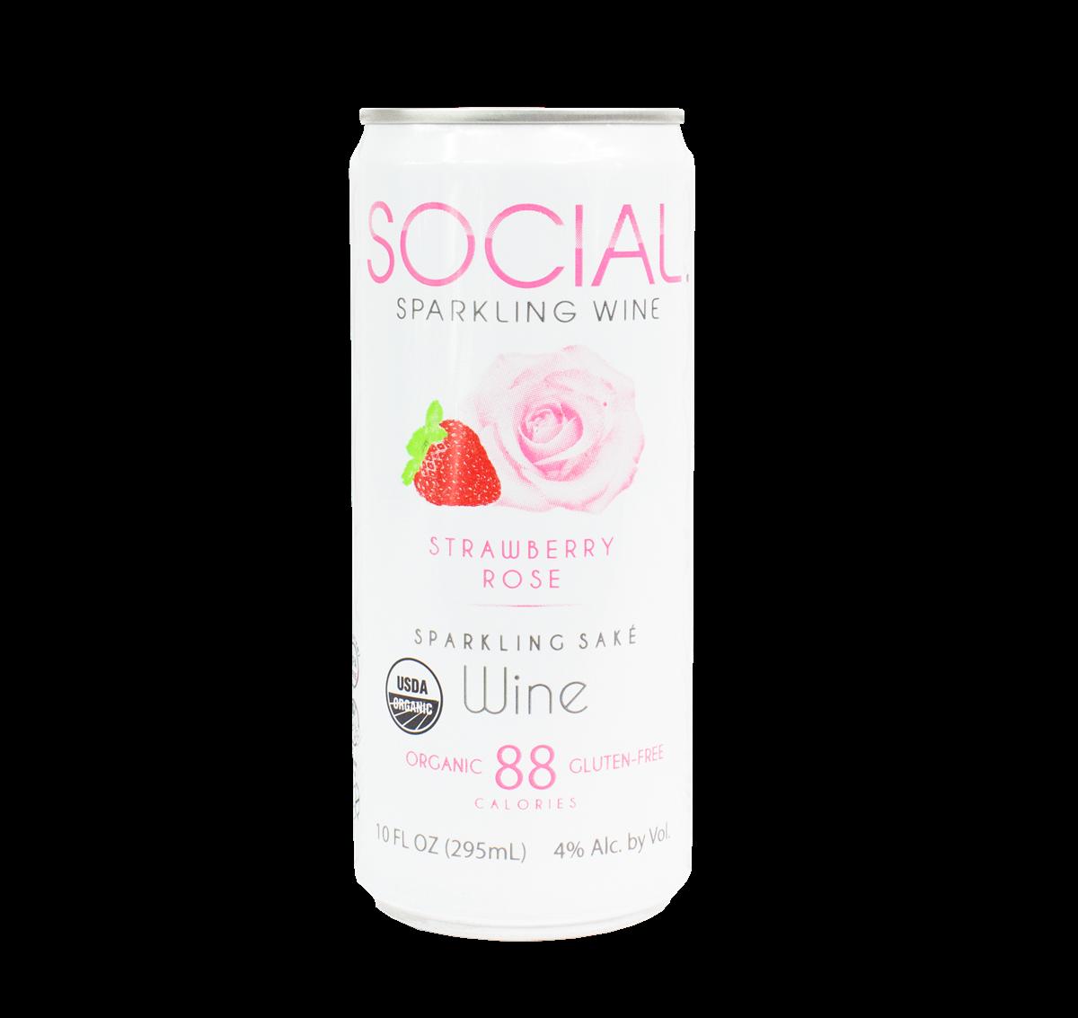 SOCIAL Strawberry Rose Sparkling Wine