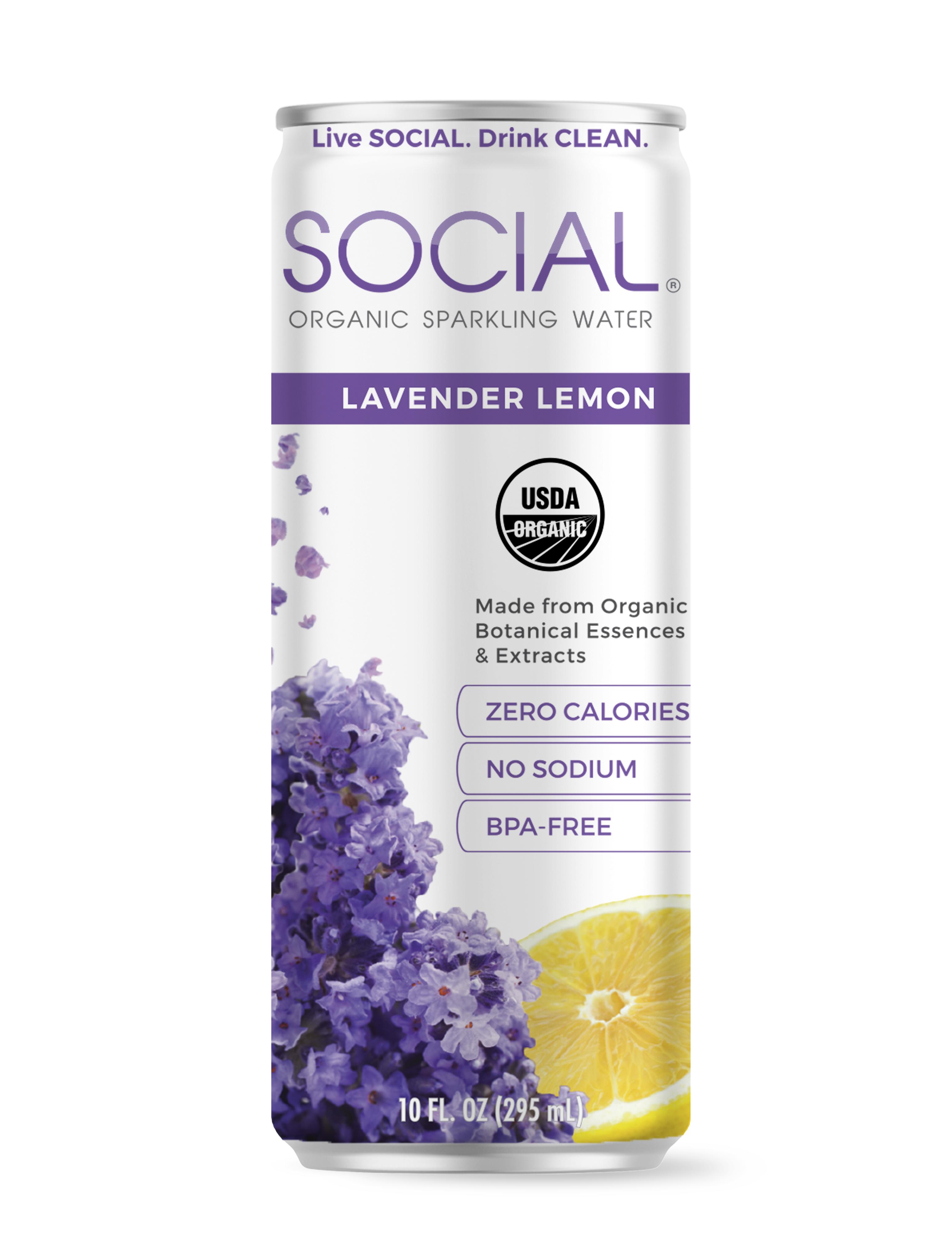 SOCIAL Lavender Lemon Sparkling Water