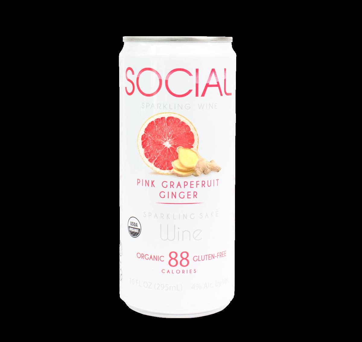 SOCIAL Pink Grapefruit Ginger Sparkling Wine