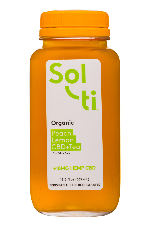 Sol-ti Shots: Solti-13oz-CBDTea-PeachLemon-Front