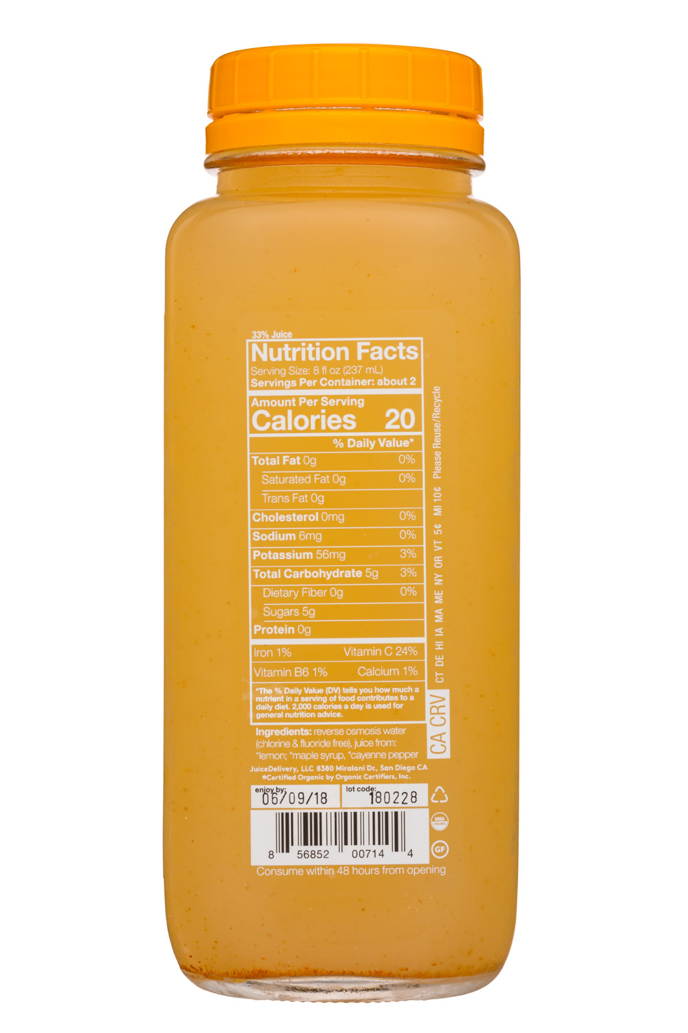 Solti: SolTi-16oz-MasterCleanse-Facts