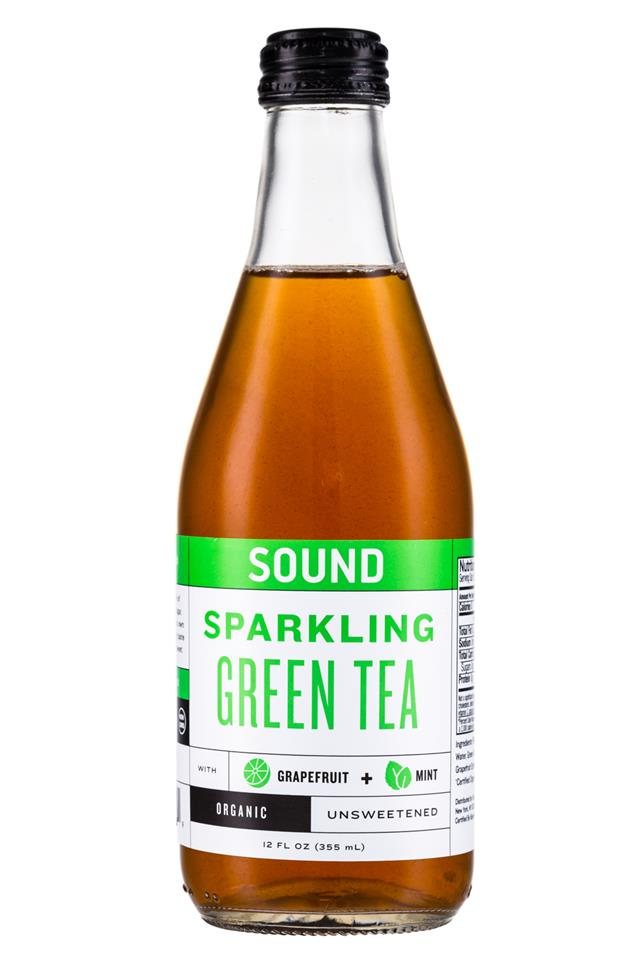 Sound Sparkling Tea: Sound-Sparkling-GreenTea-12oz-Front