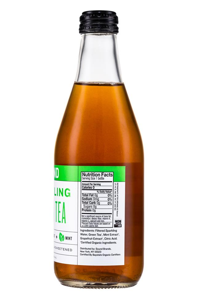 Sound Sparkling Tea: Sound-Sparkling-GreenTea-12oz-Facts