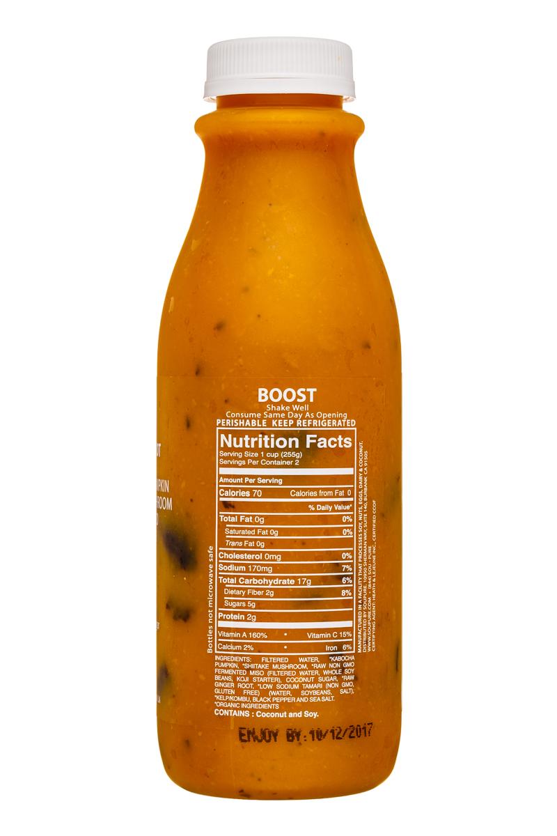 Soupure: Soupure-16oz-PumpkinMiso-Boost-Facts
