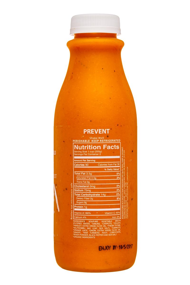 Soupure: Soupure-16oz-CarrotGinger-Prevent-Facts
