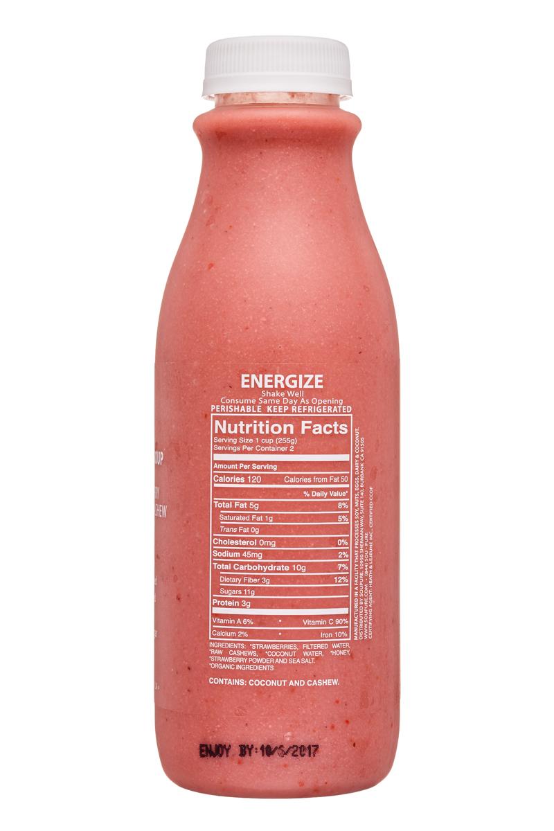 Soupure: Soupure-16oz-StrawberryCashew-Energize-Facts