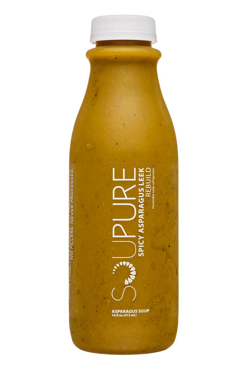Soupure: Soupure-16oz-SpicyAsparagusLeek-Rebuild-Front