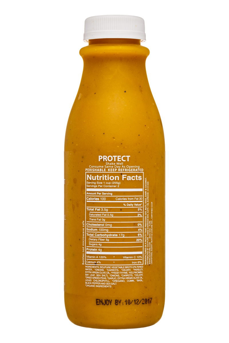 Soupure: Soupure-16oz-SplitPeaChlorophyll-Protect-Facts