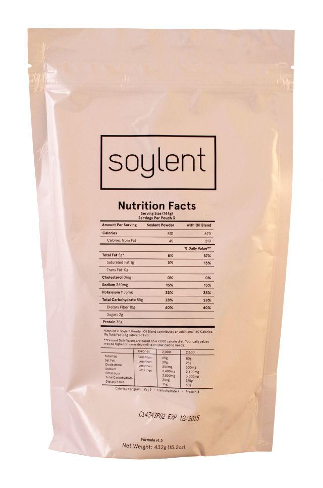 Soylent: Soylent Bag Front