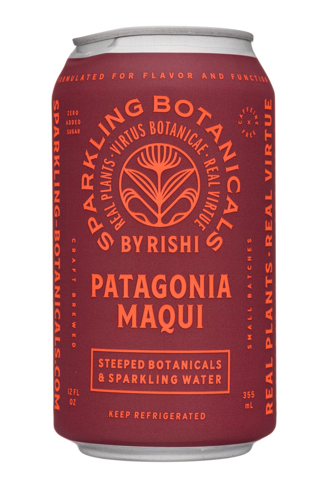 Sparkling Botanicals By Rishi: Rishi-12oz-2020-SparklingBotanicals-PatagoniaMaqui-Front