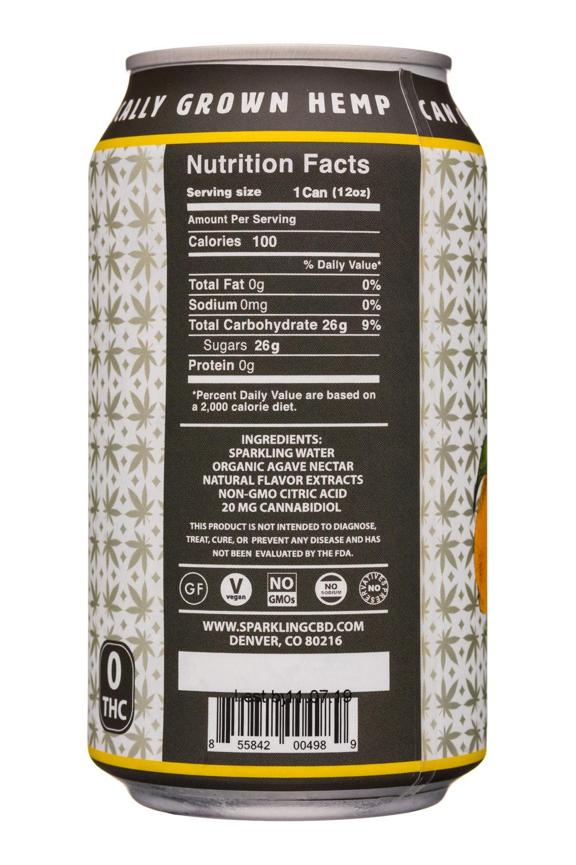 Sparkling CBD : SparklingCBD-12oz-Lemonade-Facts