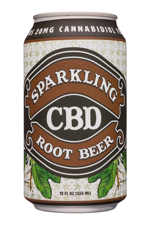 Sparkling CBD : SparklingCBD-12oz-RootBeer-Front