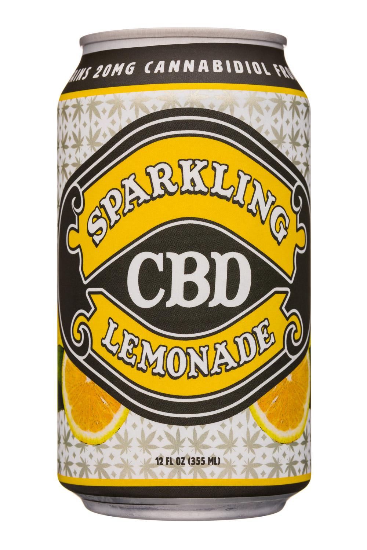 Sparkling CBD : SparklingCBD-12oz-Lemonade-Front
