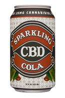 Sparkling CBD : SparklingCBD-12oz-Cola-Front