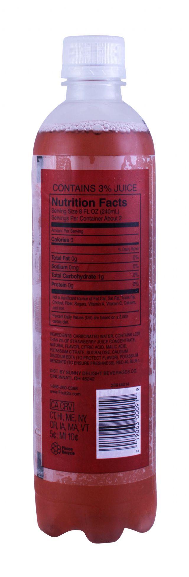 Sparkling Fruit2O: Fruit20 MixedBerry Facts