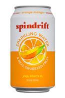 Spindrift: Spindrift-SparklingWater-12oz-OrangeMango-Front
