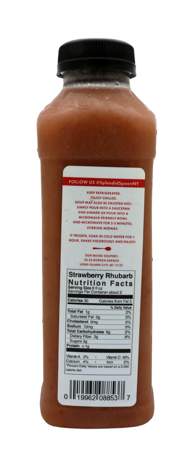 Splendid Spoon Fresh Vegan Drinkable Soup: SS StrawRhu Facts