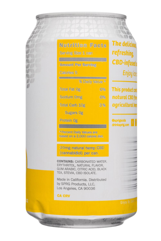 Sprig: Sprig-12oz-CBDInfused-Sparkling-LemonTea-Facts