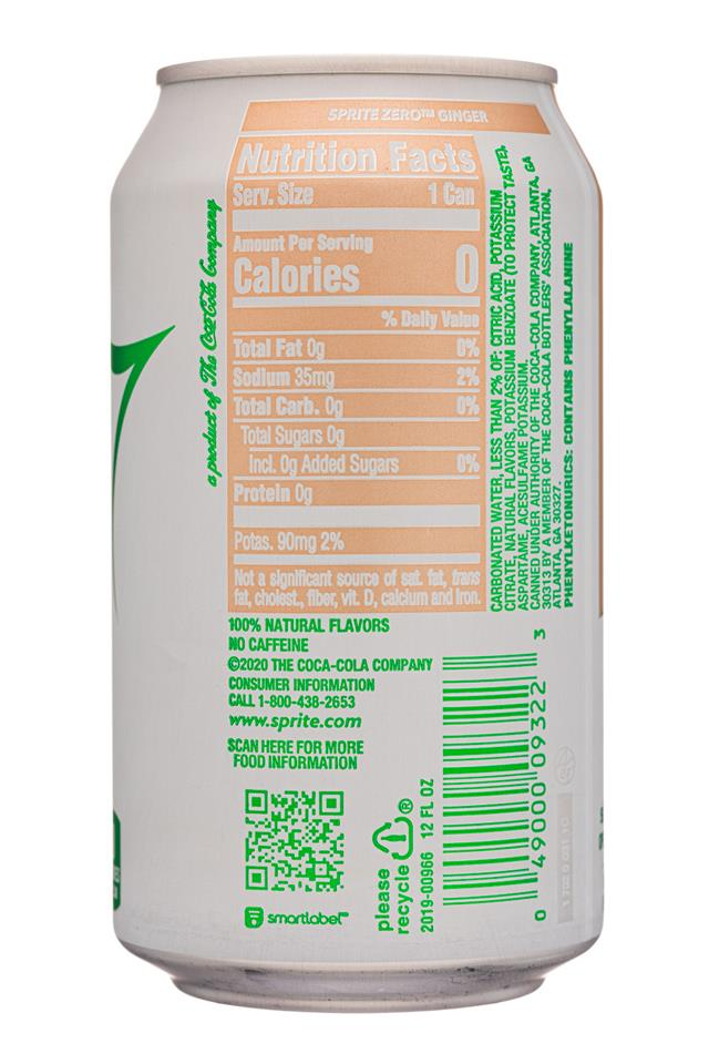 View Media 35200 Sprite 12oz 2020 Ginger Zerosugar Facts Bevnet Com Bevnet Com
