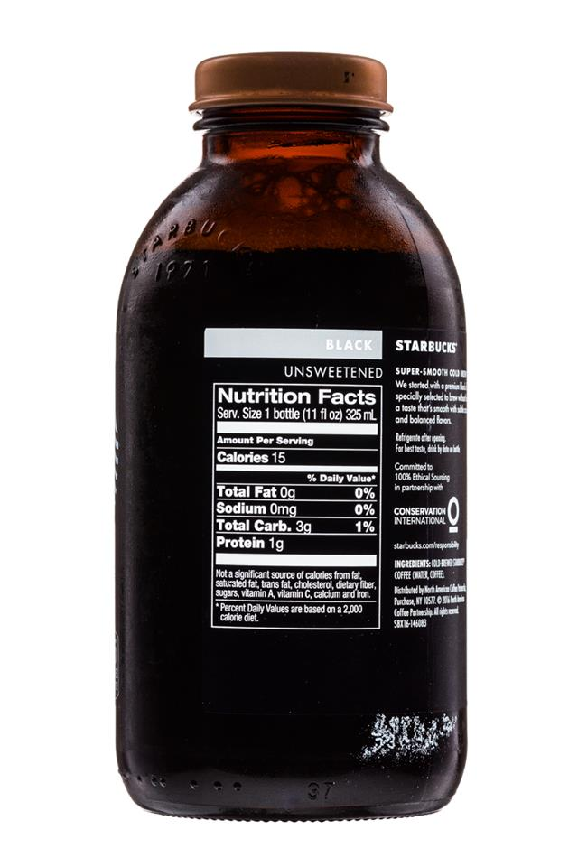Starbucks Cold Brew Coffee: Starbucks-ColdBrew-11oz-Black-Facts