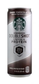 Starbuck Double Shot Coffee & Protein: Starbucks DarkChoco Front