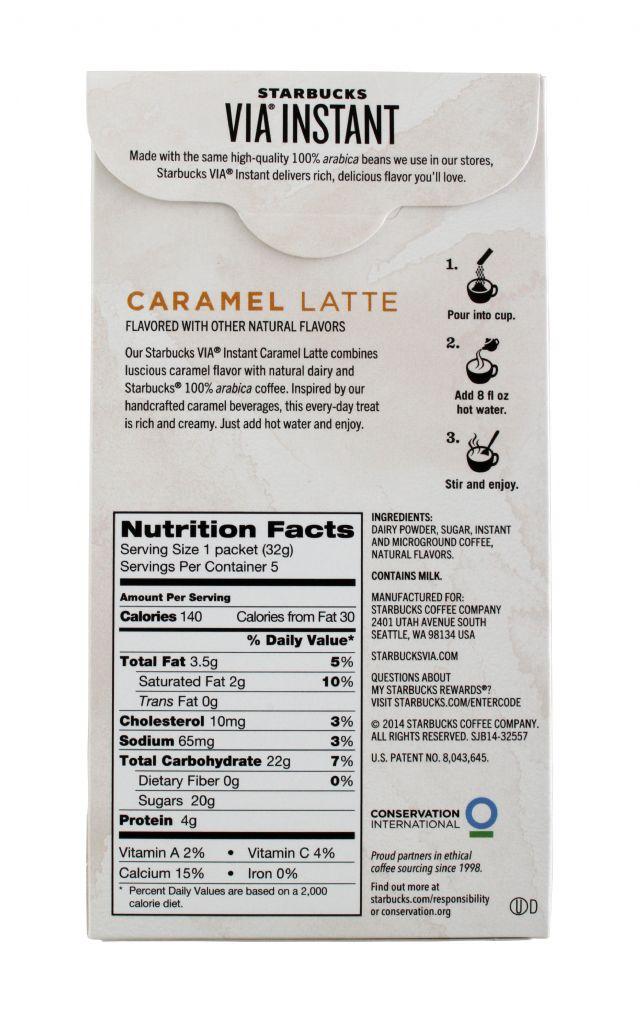 Starbucks VIA: Starbucks Caramel Facts