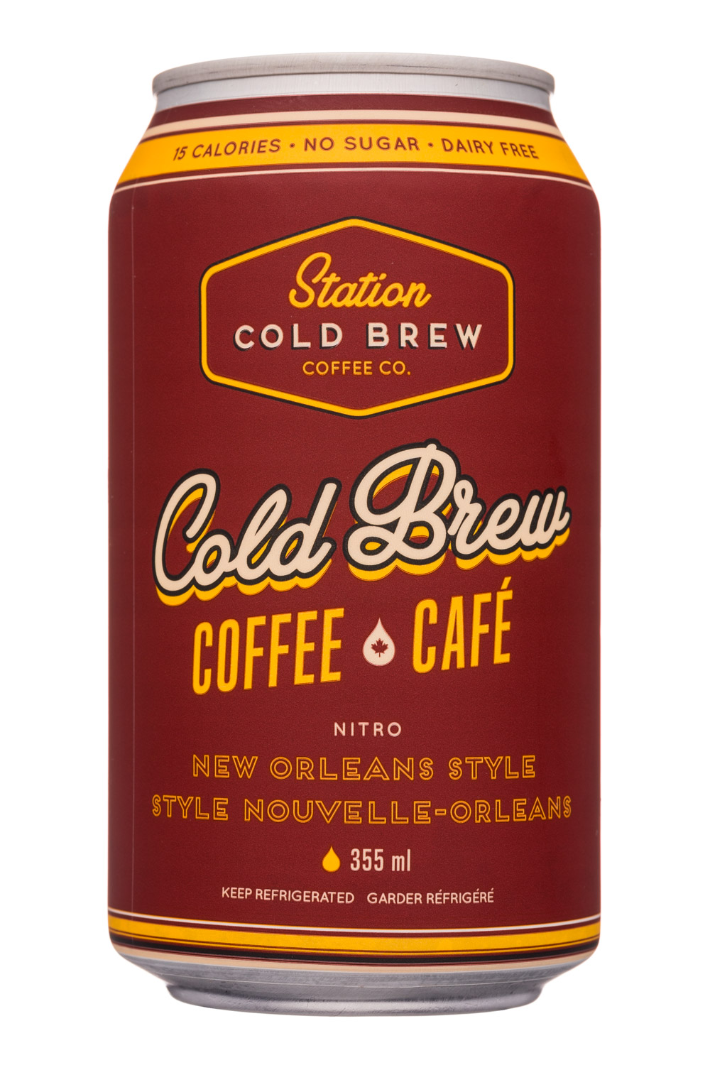Station Cold Brew Coffee Co: StationCoffeeCo-12oz-NitroColdBrew-NewOrleans-Front